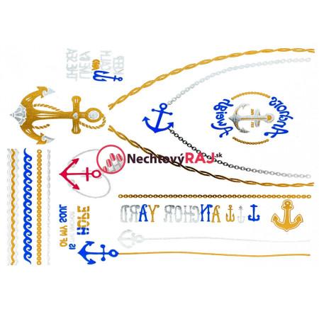 Hit leta - Metalická tetovačka 14,5 x 20 cm