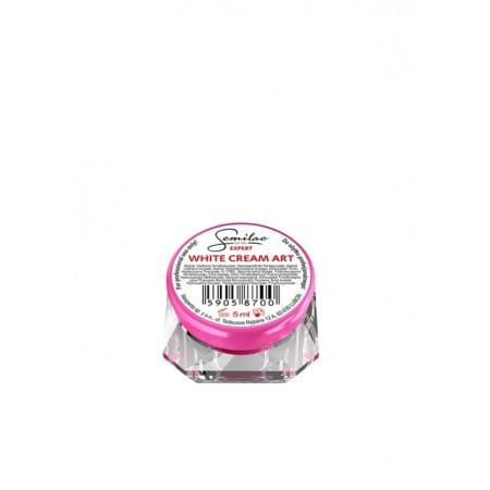 Semilac expert uv gél white cream art - 5 ml