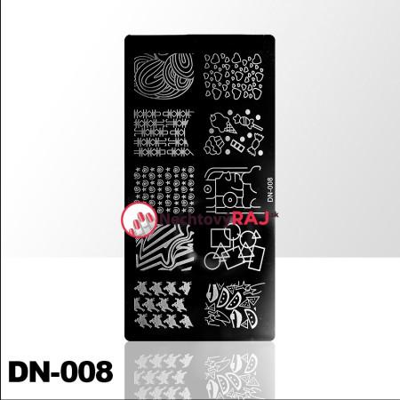 Doštička na pečiatkovanie DN008 NechtovyRAJ.sk - Daj svojim nechtom všetko, čo potrebujú
