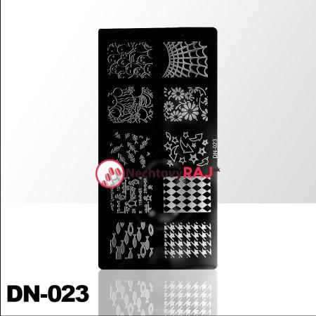 Doštička na pečiatkovanie DN023 NechtovyRAJ.sk - Daj svojim nechtom všetko, čo potrebujú