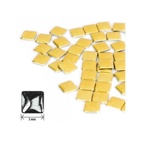 Ozdoby štvorec - zlaté matné NechtovyRAJ.sk - Daj svojim nechtom všetko, čo potrebujú