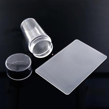 Silikonová pečiatka a stierka číra + stieracia karta