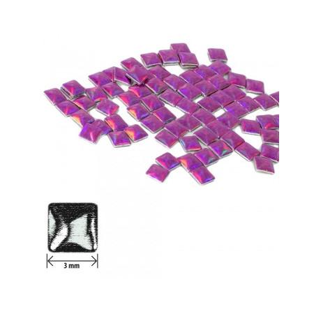 Ozdoby štvorec - holografické ružovo-fialové