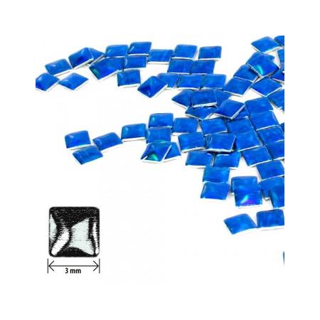 Ozdoby štvorec - holografické modré