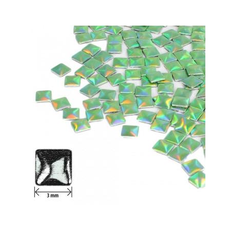 Ozdoby štvorec - holografické zelené