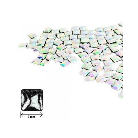Ozdoby štvorec - strieborné holografické