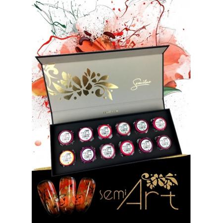 Luxusná sada nail art gélov 12 ks