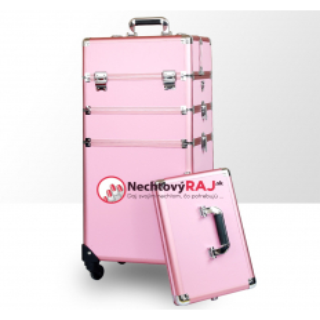 Kozmetický kufrík veľký ružový 2 NechtovyRAJ.sk - Daj svojim nechtom všetko, čo potrebujú