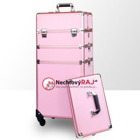 Kozmetický kufrík veľký ružový 2 - NechtovyRAJ.sk