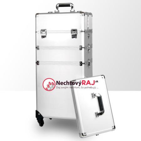 Kozmetický kufrík veľký strieborný 2