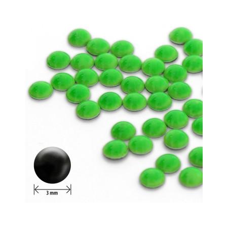Ozdoby okrúhle vypuklé 3mm - neon zelené NechtovyRAJ.sk - Daj svojim nechtom všetko, čo potrebujú