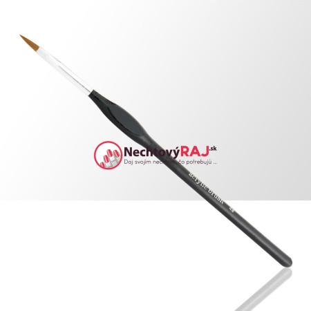 Štetec na akryl č. 4 - čierny - ergonomická rúčka