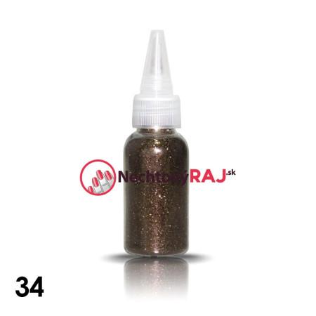 34. Glitrový prášok vo flaštičke s dávkovačom 20 g