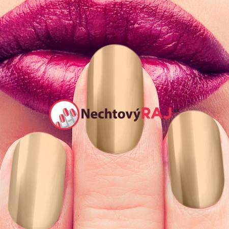 Zlatý multi chróm efekt Metal manix