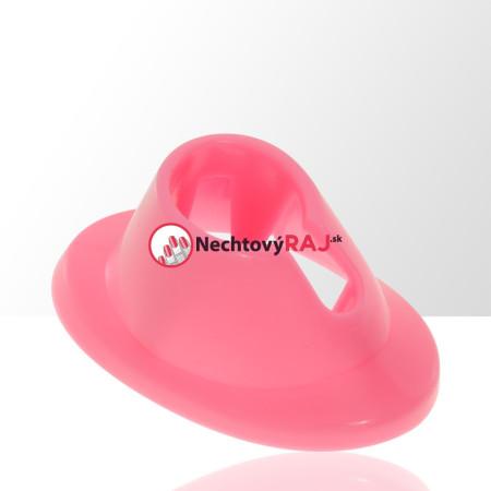 Gumený držiak na laky ružový