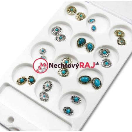 3D Luxusné ozdoby na nechty sada vintage 03