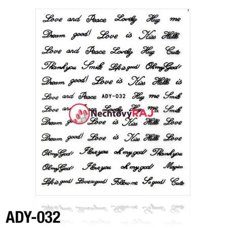 3D nálepky ADY-032