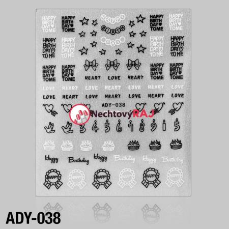 3D nálepky ADY-038 NechtovyRAJ.sk - Daj svojim nechtom všetko, čo potrebujú