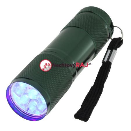 Mini UV LED baterka tmavo zelená