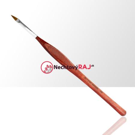 Štetec na akryl č. 2 - lakované drevo - ergonomická rúčka NechtovyRAJ.sk - Daj svojim nechtom všetko, čo potrebujú