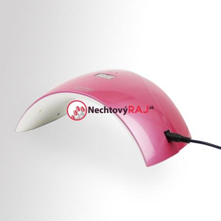 UV LED lampa - S 24 W ružová so senzorom a displejom