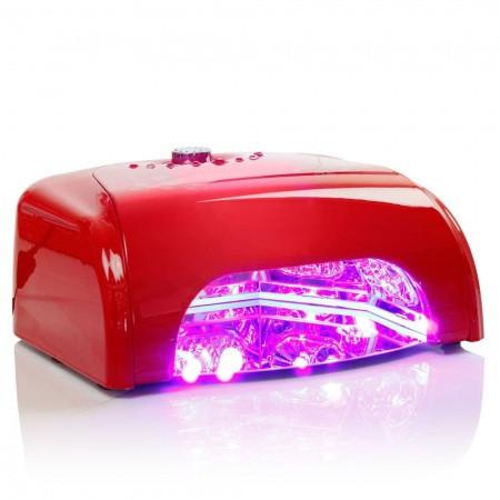 LED LAMPA K1 36 W so sušičkou červená
