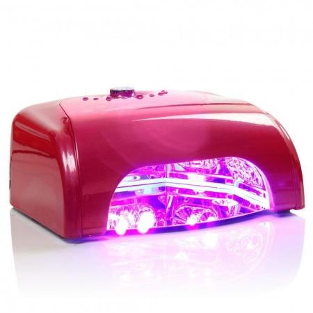 LED LAMPA K1 36 W so sušičkou tmavo ružová