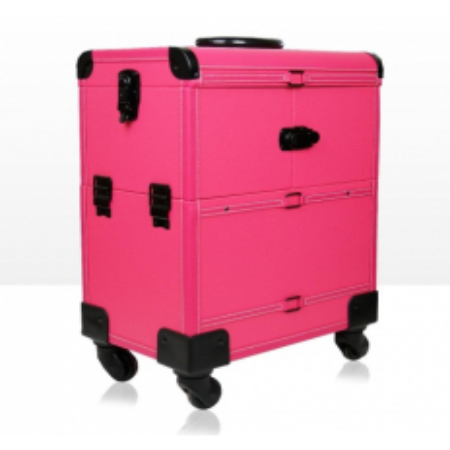 Kozmetický kufrík Lux ružový 01