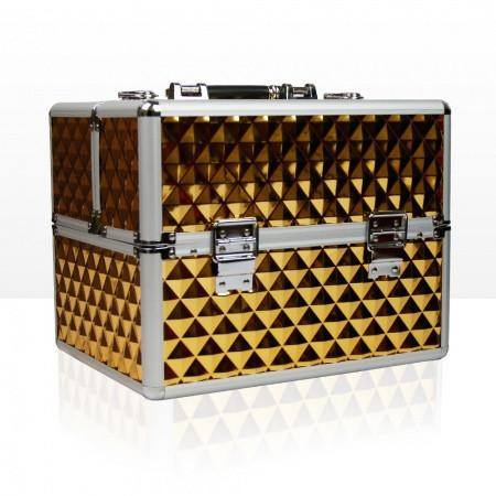 Kozmetický kufrík - 3D zlatý
