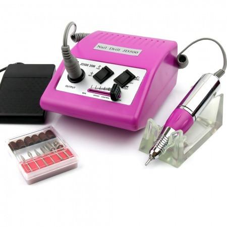 Elektrická brúska na nechty JD 500 - ružová - fialová