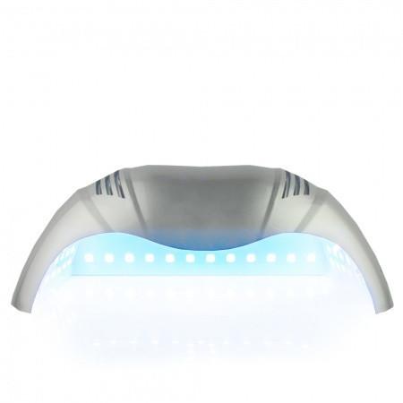 UV - LED LAMPA na dve ruky 72 W - strieborná