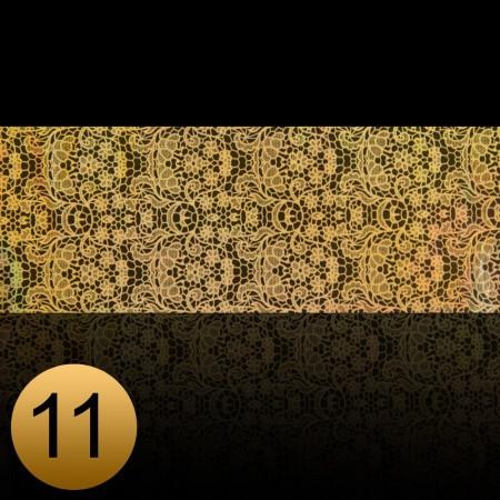 Transfer fólia na nechty čipkováná zlatá 11