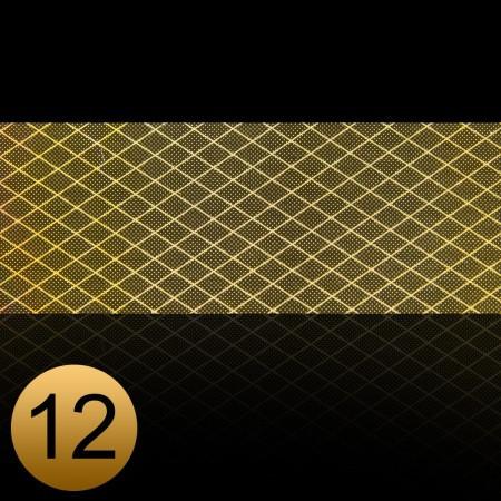 Transfer fólia na nechty čipkováná zlatá 12