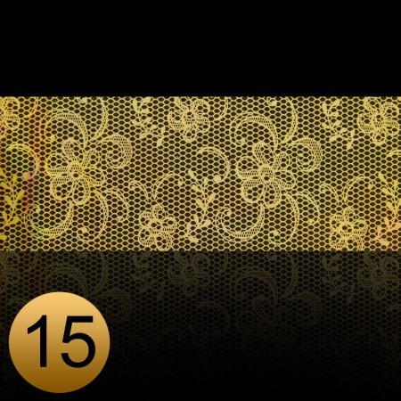 Transfer fólia na nechty čipkováná zlatá 15 NechtovyRAJ.sk - Daj svojim nechtom všetko, čo potrebujú