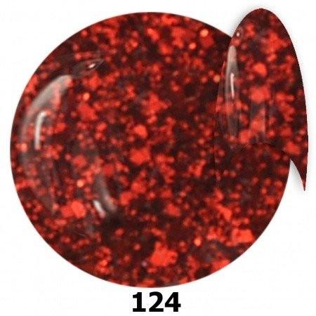Glitrový gél lak NTN 124 6ml