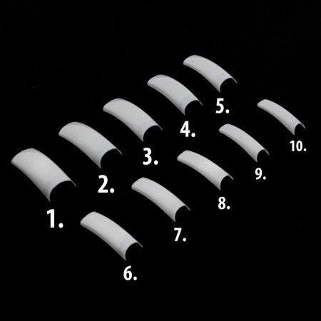 Biele tipy  č.2  60 ks - krátka  zarážka