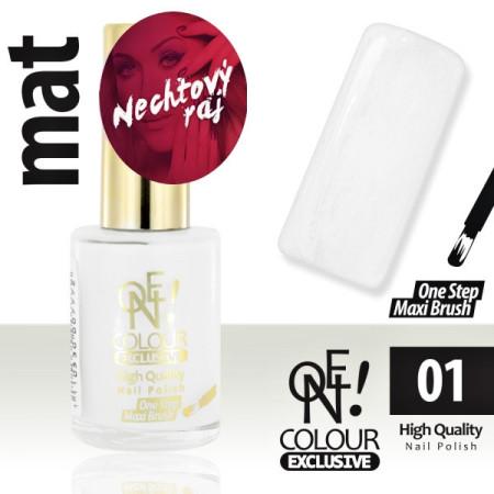 Lak na nechty - One colour - priehľadný 01