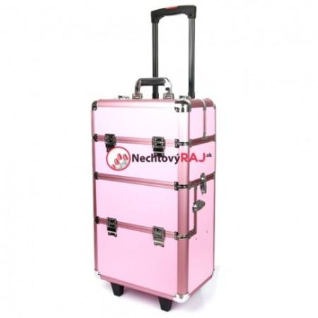 Kozmetický kufrík veľký ružový 3