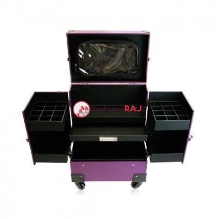Kozmetický kufrík Lux fialový 02