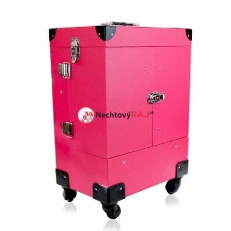 Kozmetický kufrík Lux ružový 02