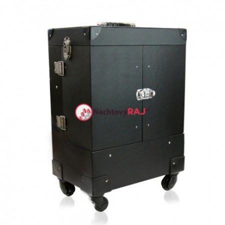 Kozmetický kufrík Lux čierny 03