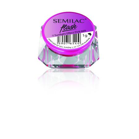 SemiFlash Sunlight effect pink 669 NechtovyRAJ.sk - Daj svojim nechtom všetko, čo potrebujú
