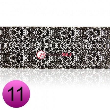 Transfer fólia na nechty čipkováná čierna 12 NechtovyRAJ.sk - Daj svojim nechtom všetko, čo potrebujú