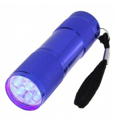 Mini UV  LED baterka modrá
