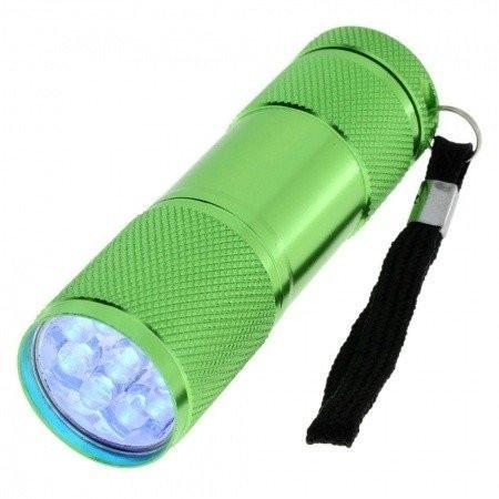 Mini UV LED baterka tmavo modrá