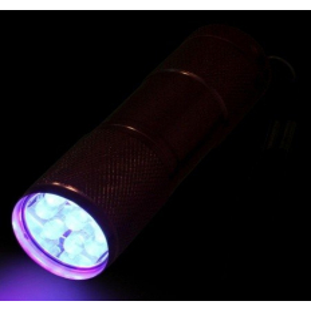 Mini UV LED baterka čierna