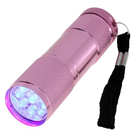 Mini UV LED baterka ružová