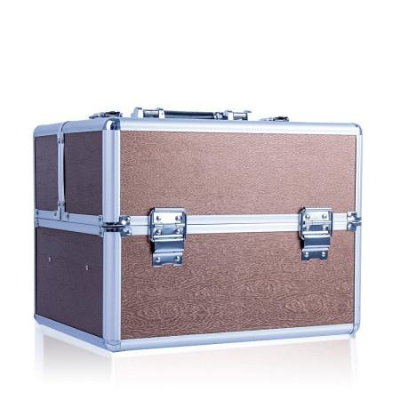 Kozmetický kufrík - hnedý