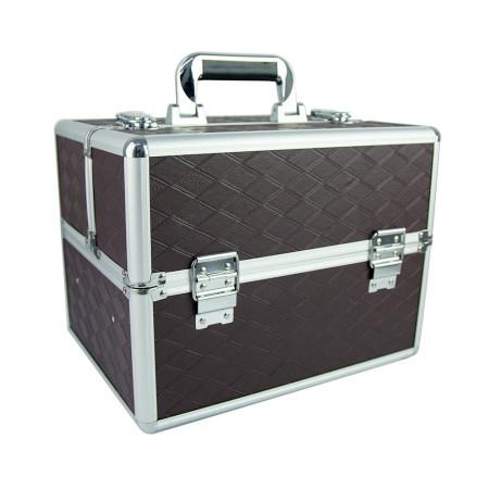 Kozmetický kufrík hnedý N11 NechtovyRAJ.sk - Daj svojim nechtom všetko, čo potrebujú