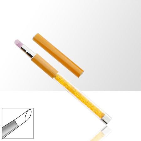 Pero na úpravu nechtovej kožičky oranžové 02